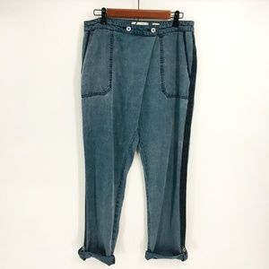 Anthropologie Loose Fit Blue Joggers